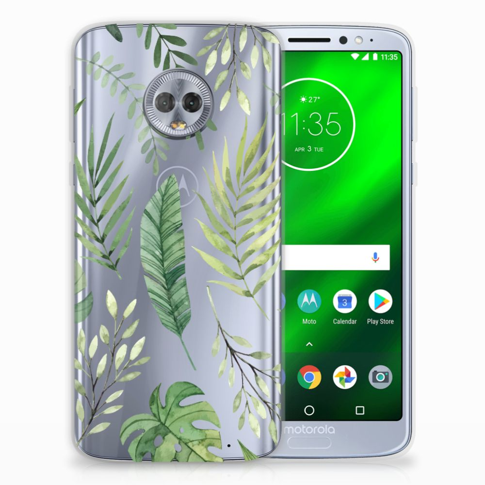 Motorola Moto G6 Plus TPU Case Leaves