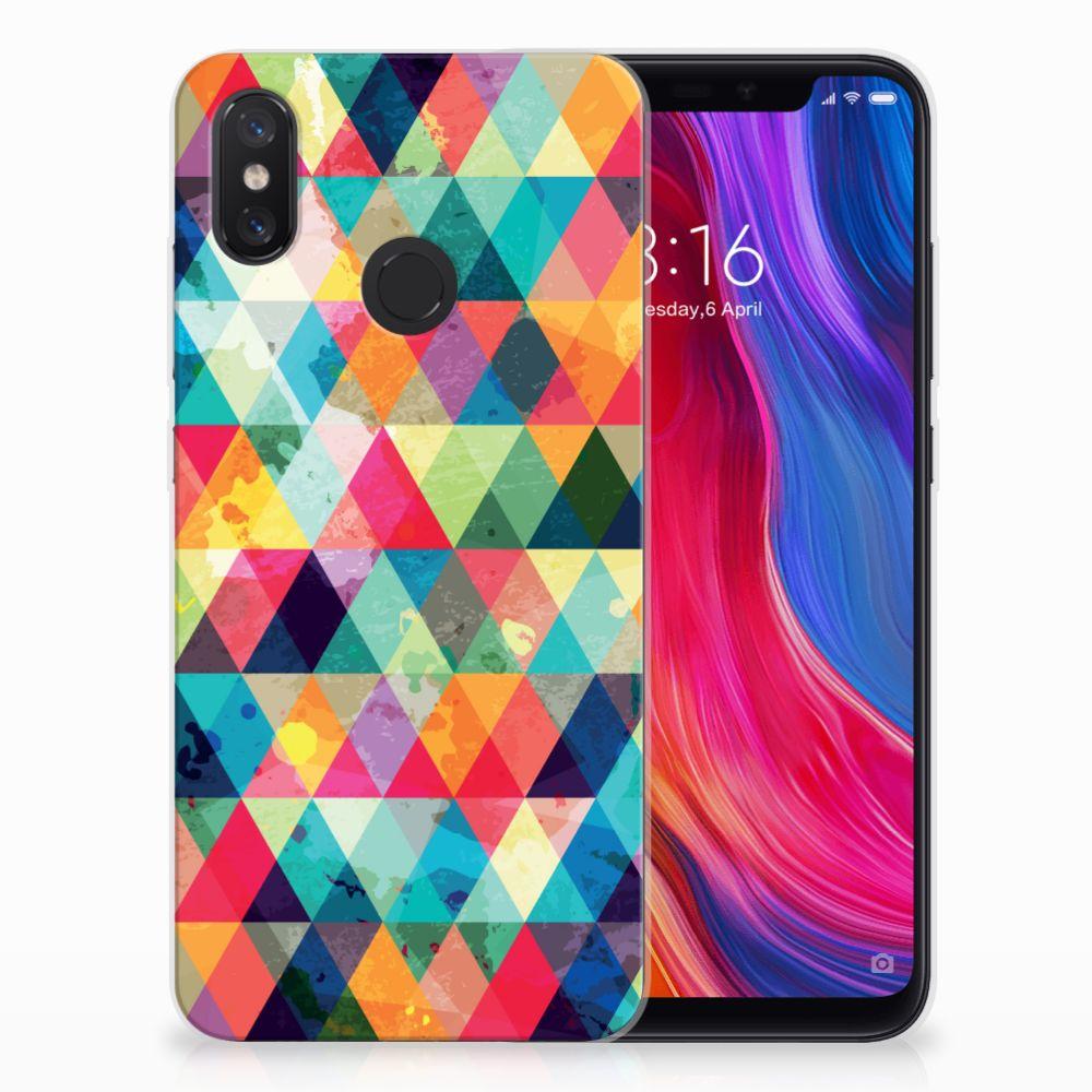 Xiaomi Mi 8 Uniek TPU Hoesje Geruit