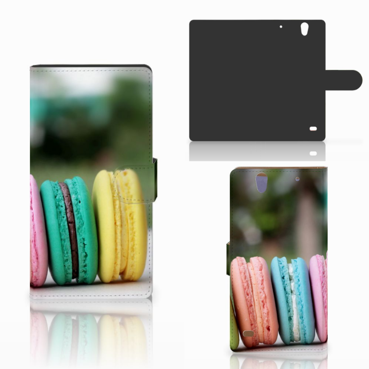 Sony Xperia C4 Book Cover Macarons