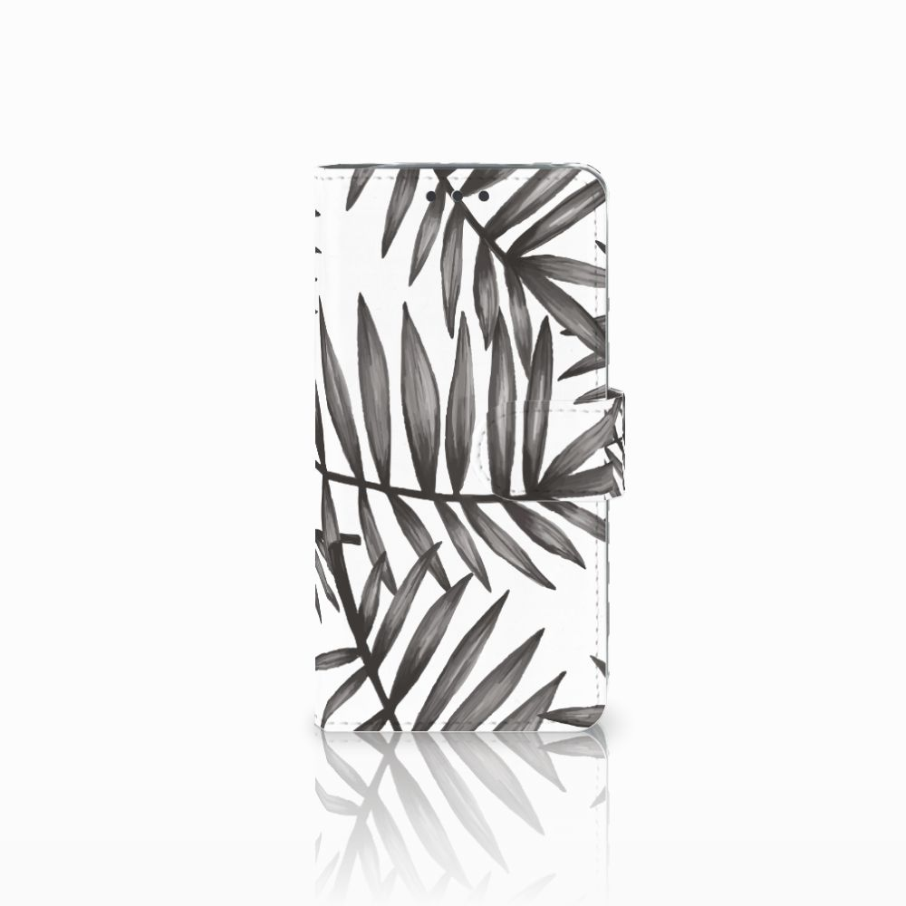 LG G5 Uniek Boekhoesje Leaves Grey