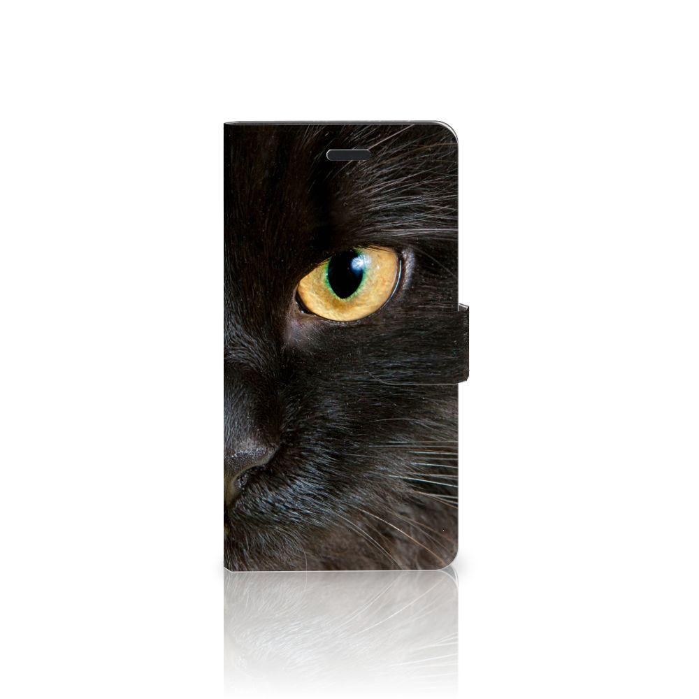 Samsung Galaxy A7 2017 Uniek Boekhoesje Zwarte Kat