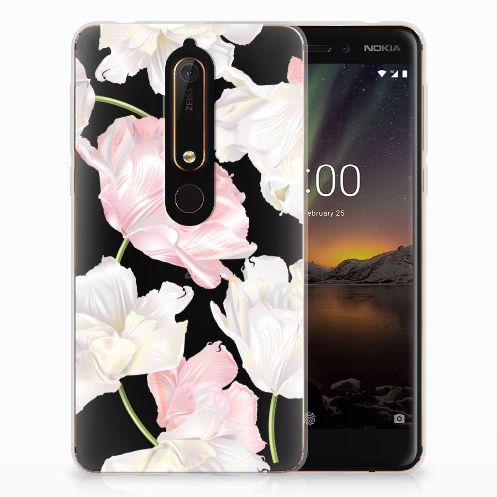 Nokia 6 (2018) TPU Hoesje Design Lovely Flowers