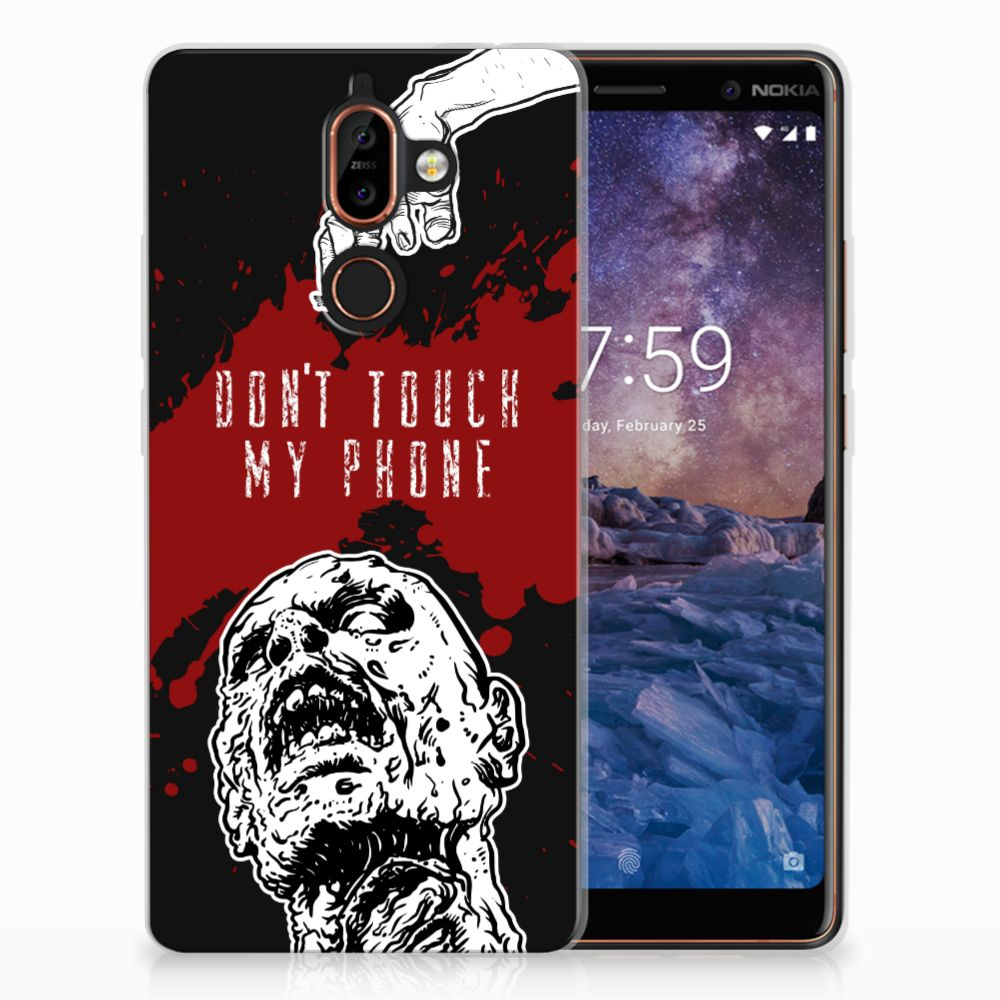 Nokia 7 Plus TPU Hoesje Design Zombie Blood