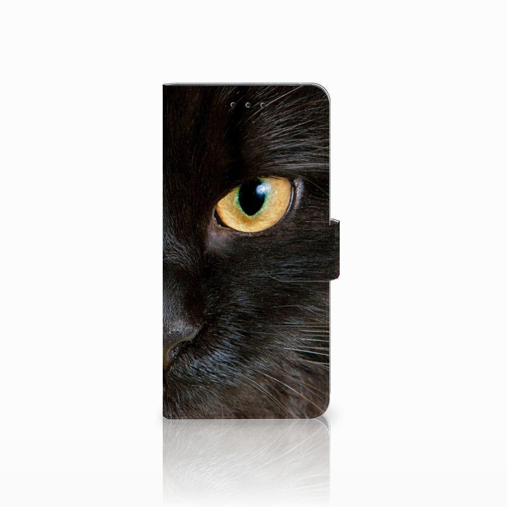 Motorola Moto E5 Plus Uniek Boekhoesje Zwarte Kat