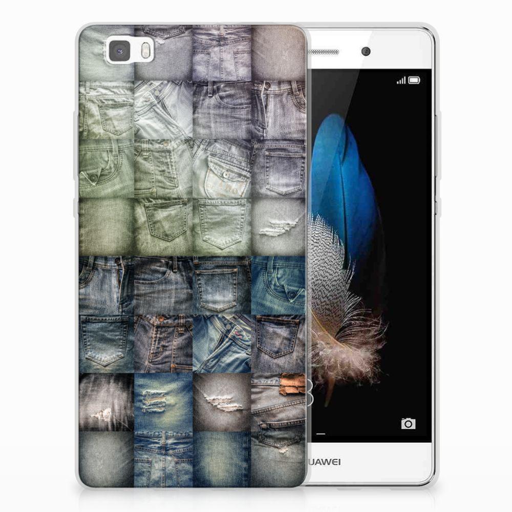Huawei Ascend P8 Lite Uniek TPU Hoesje Spijkerbroeken