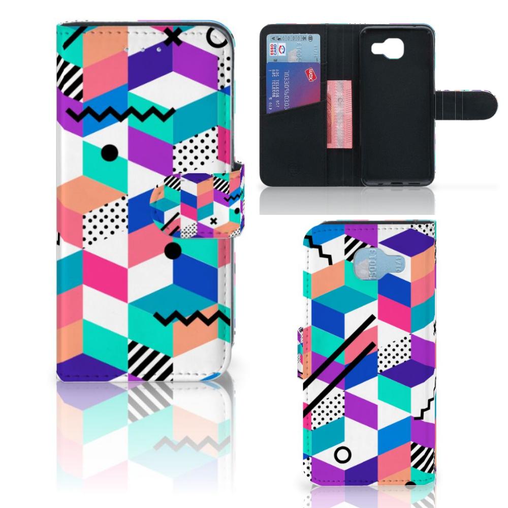 Samsung Galaxy A5 2016 Bookcase Blokken Kleurrijk