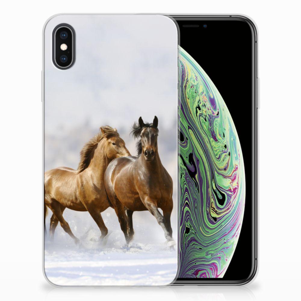 Apple iPhone Xs Max Uniek TPU Hoesje Paarden
