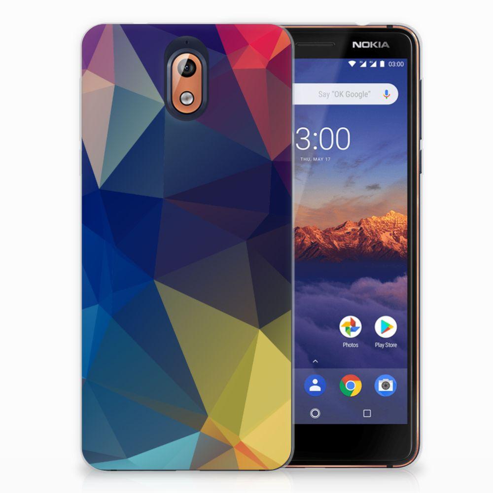 Nokia 3.1 (2018) TPU Hoesje Polygon Dark