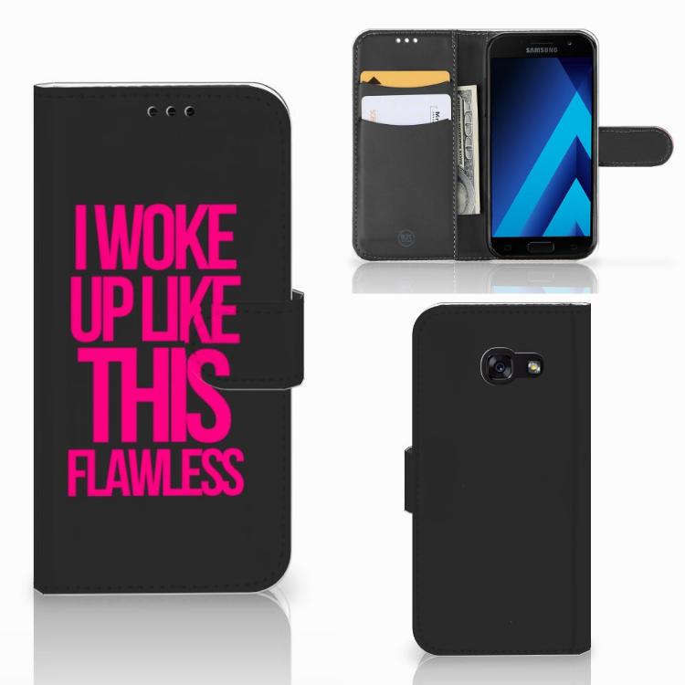 Samsung Galaxy A5 2017 Hoesje met naam Woke Up - Origineel Cadeau Zelf Maken