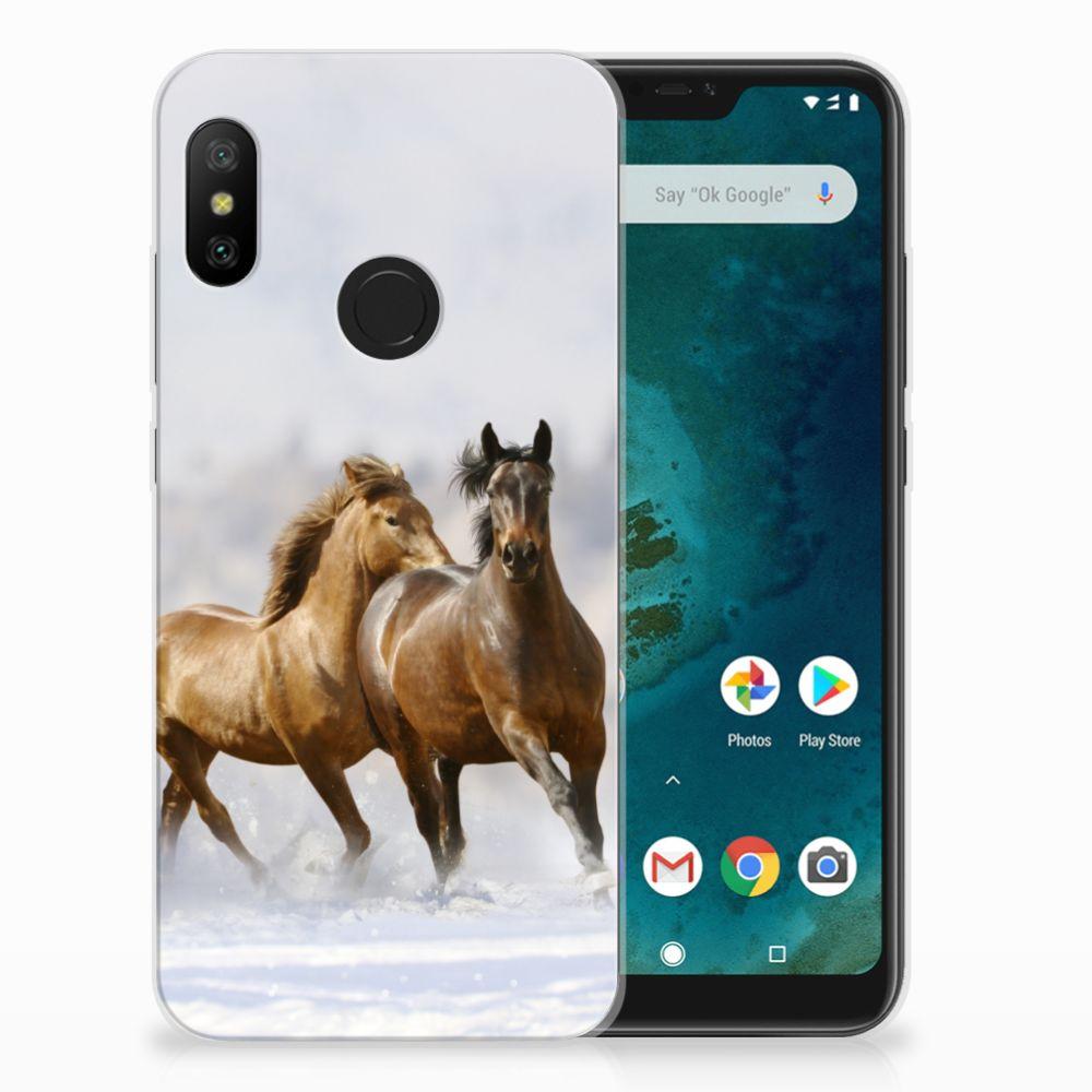 Xiaomi Mi A2 Lite Leuk Hoesje Paarden