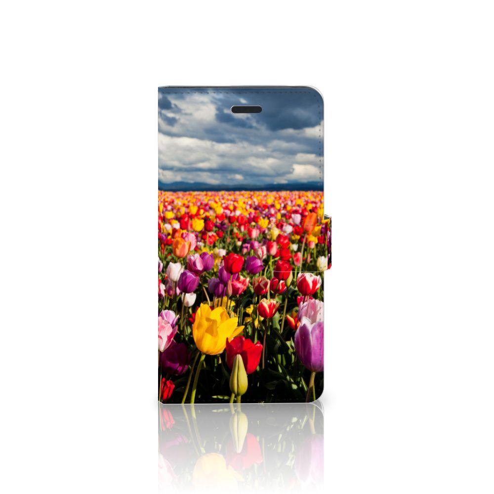 Samsung Galaxy A7 2017 Uniek Boekhoesje Tulpen
