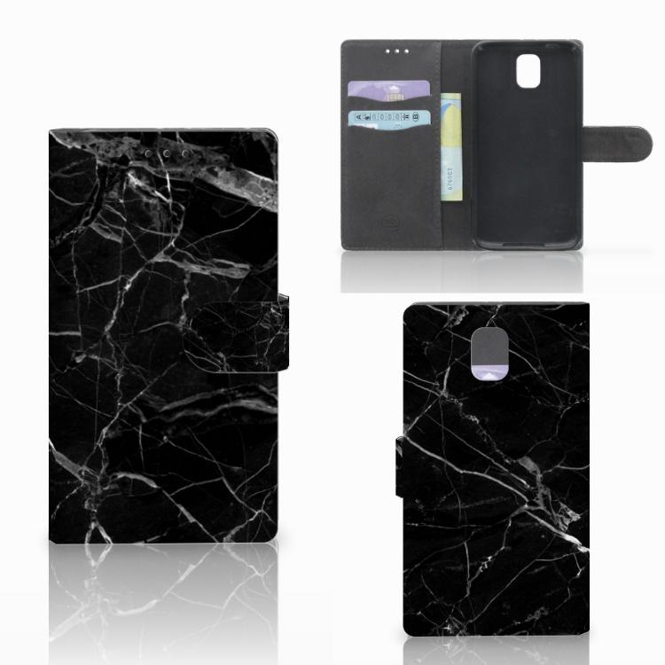 Samsung Galaxy Note 3 Bookcase Marmer Zwart