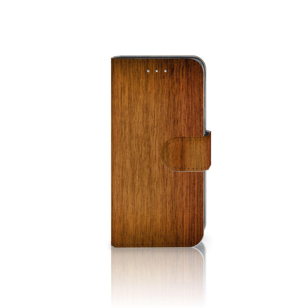 Samsung Galaxy A5 2016 Uniek Boekhoesje Donker Hout