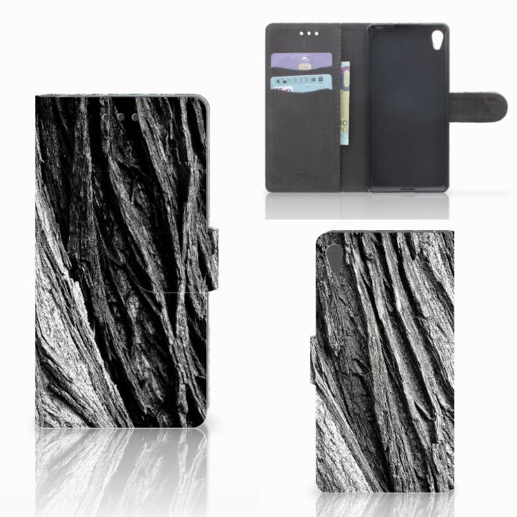 Book Style Case Sony Xperia E5 Boomschors Grijs