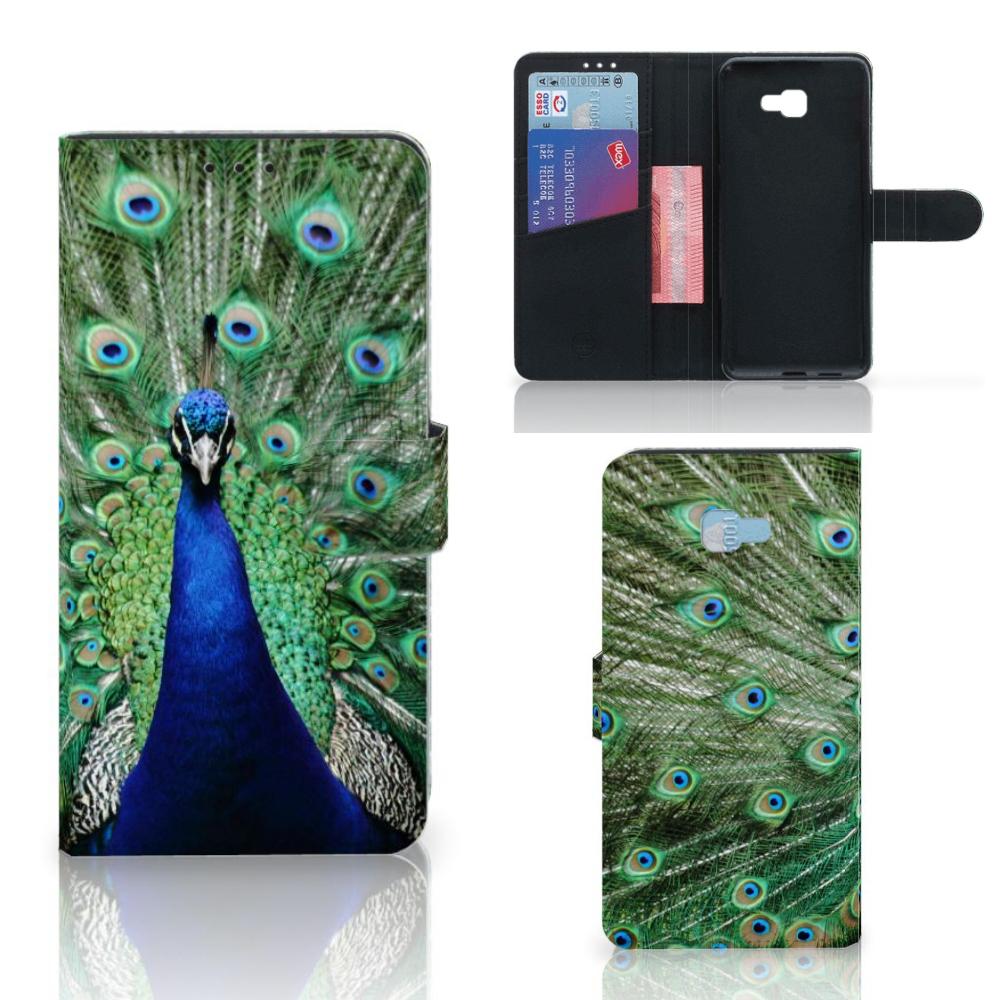 Samsung Galaxy J4 Plus (2018) Telefoonhoesje met Pasjes Pauw
