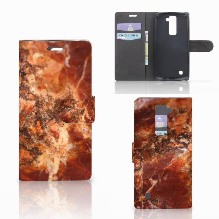 LG K10 2015 Bookcase Marmer Bruin