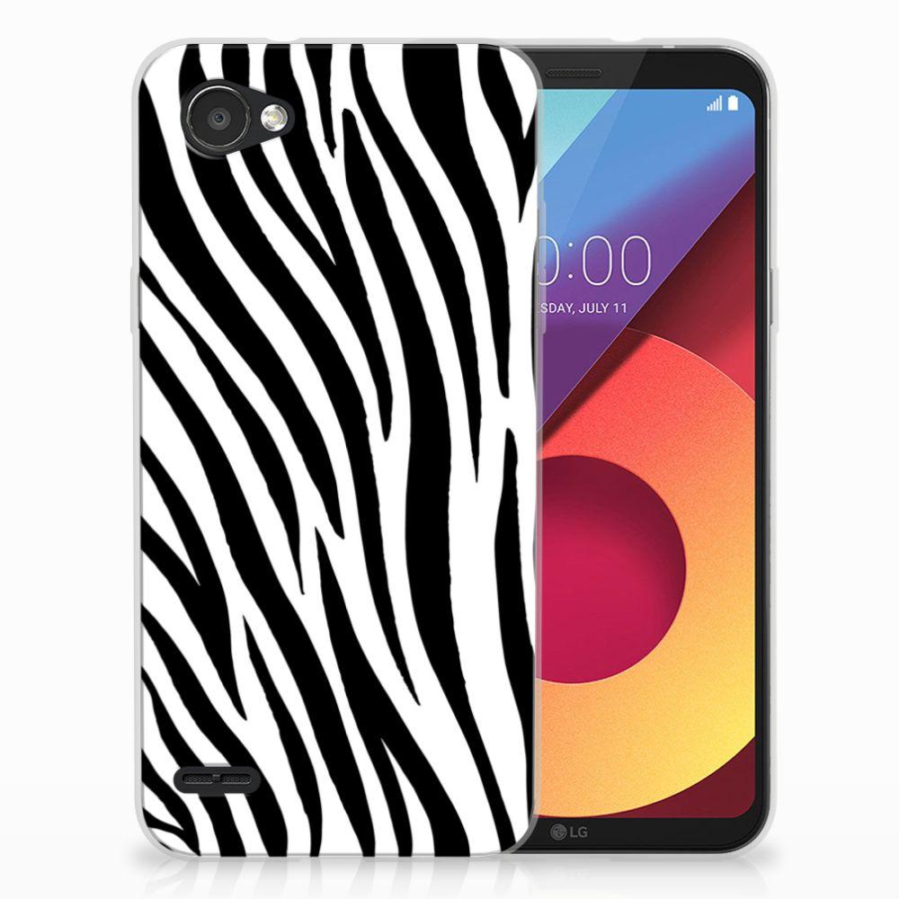 LG Q6 | LG Q6 Plus TPU Hoesje Design Zebra