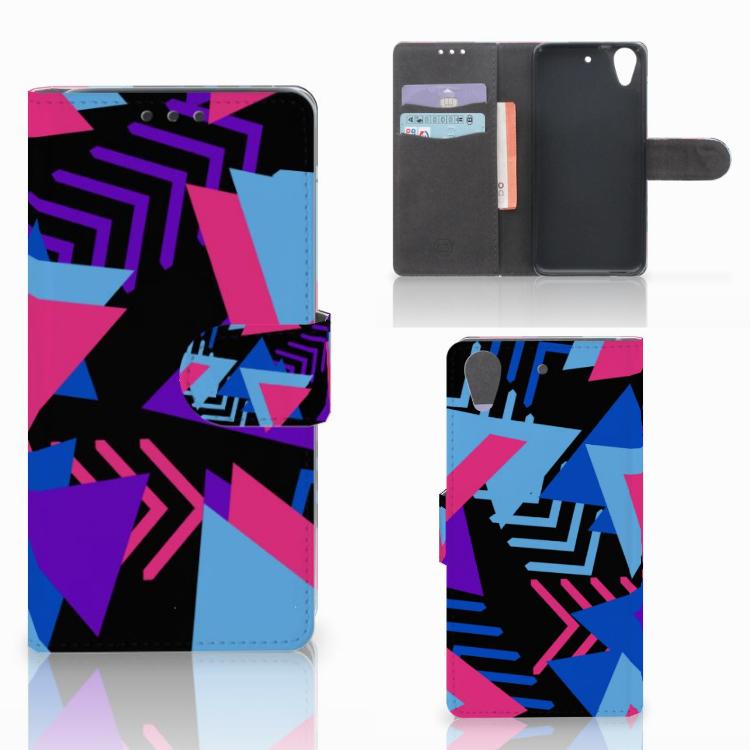 HTC Desire 626 | Desire 626s Bookcase Funky Triangle