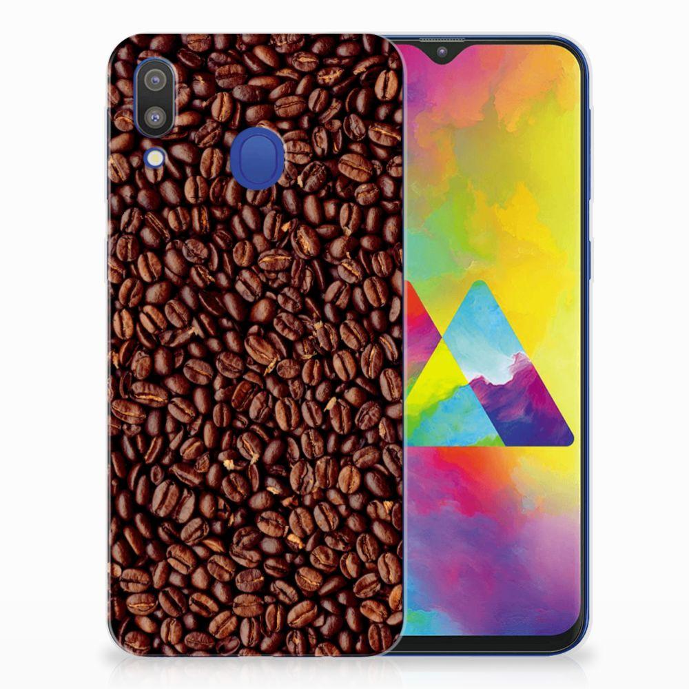 Samsung Galaxy M20 (Power) Siliconen Case Koffiebonen