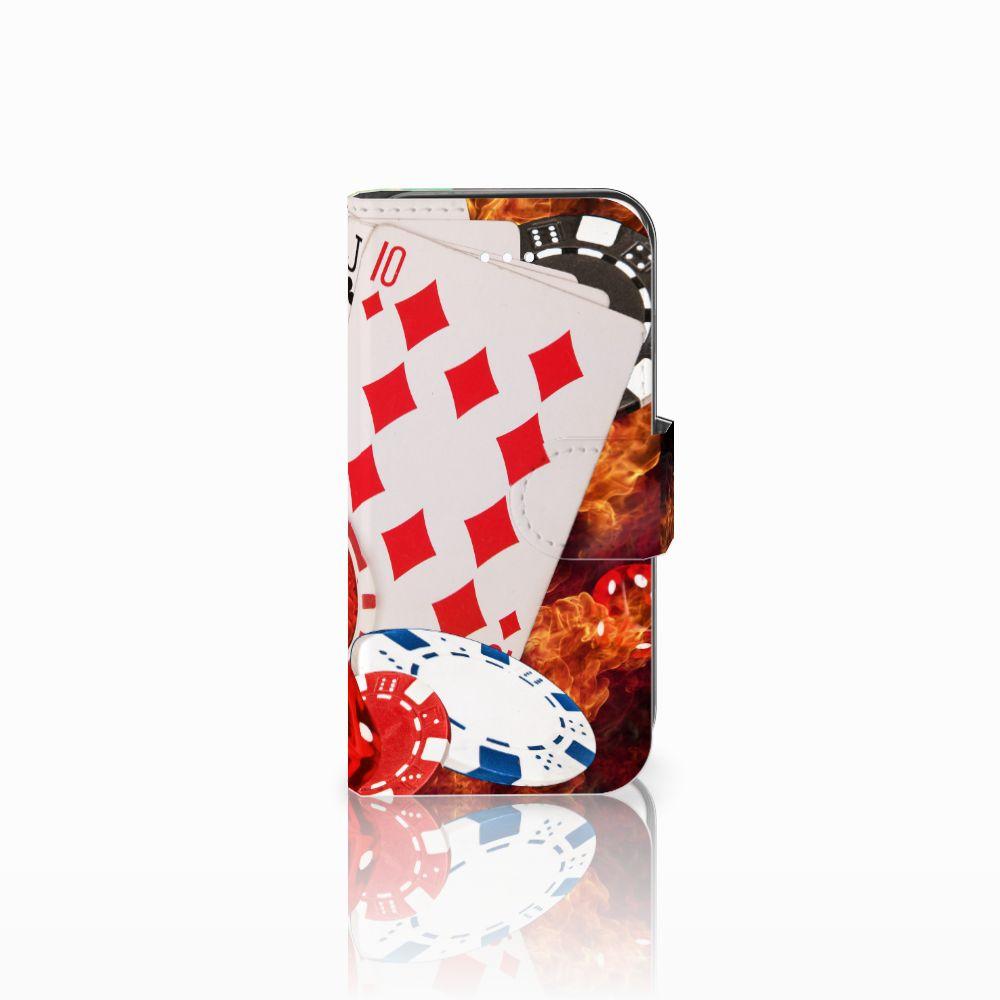 Apple iPhone 5   5s   SE Uniek Boekhoesje Casino