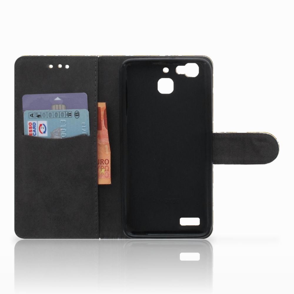 Wallet Case Huawei P8 Lite Smart (GR3) Barok Goud