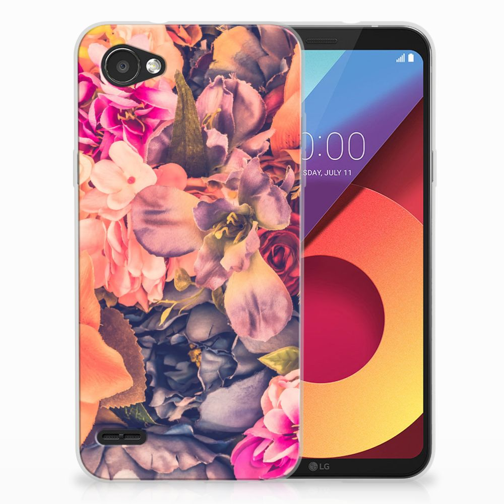 LG Q6 | LG Q6 Plus TPU Hoesje Design Bosje Bloemen