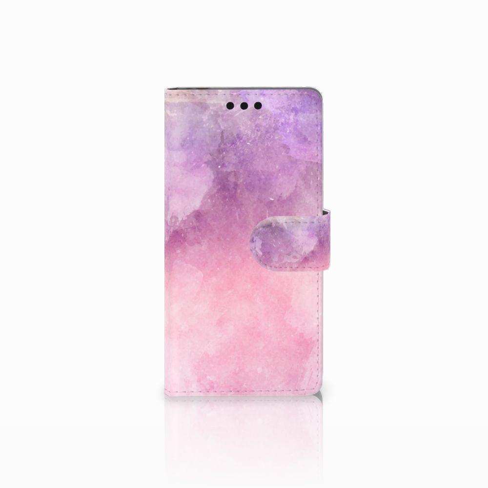 Sony Xperia M4 Aqua Boekhoesje Design Pink Purple Paint