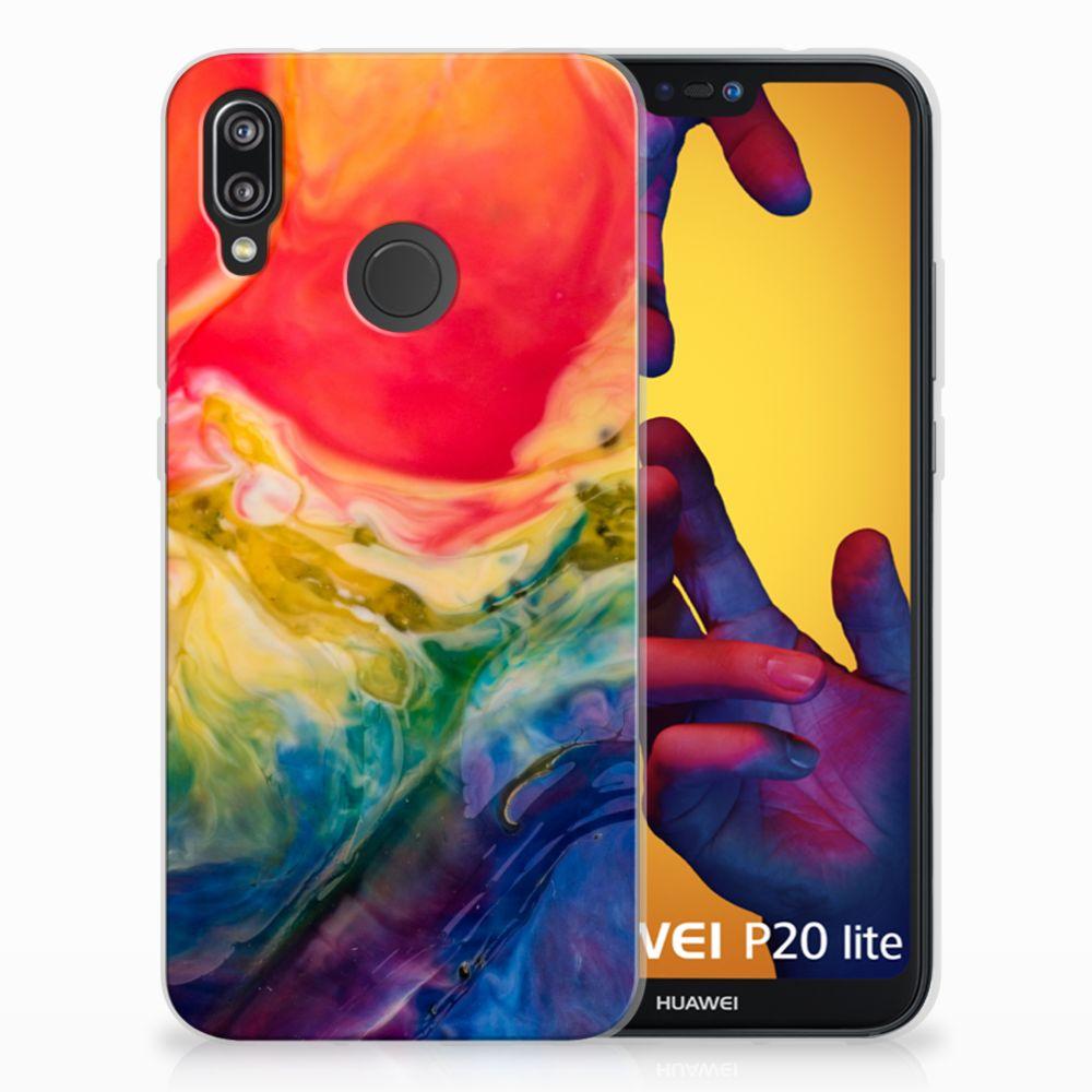 Hoesje maken Huawei P20 Lite Watercolor Dark