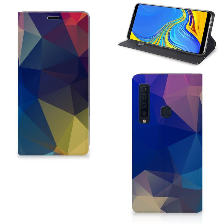 Samsung Galaxy A9 (2018) Stand Case Polygon Dark