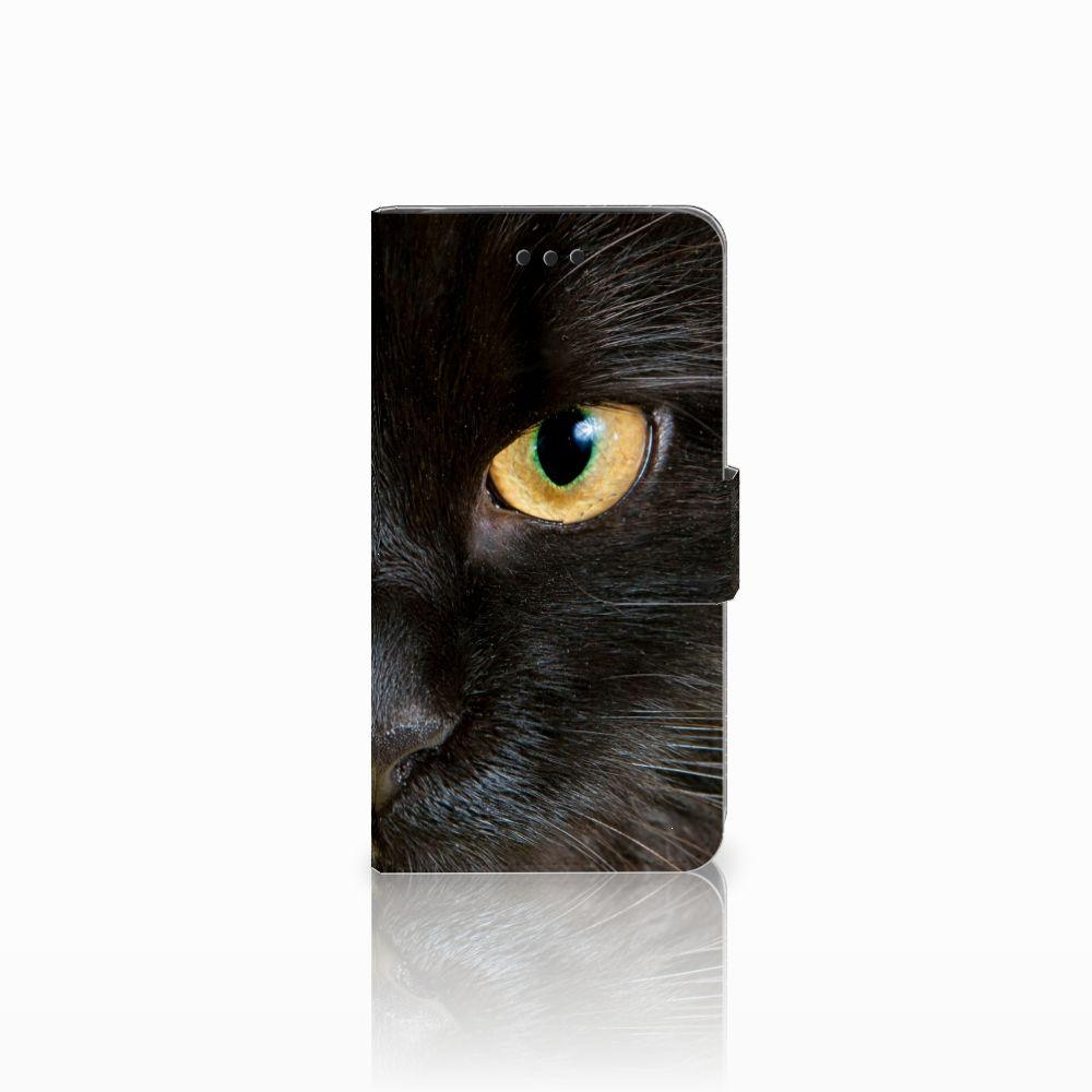 Samsung Galaxy J2 Pro 2018 Uniek Boekhoesje Zwarte Kat