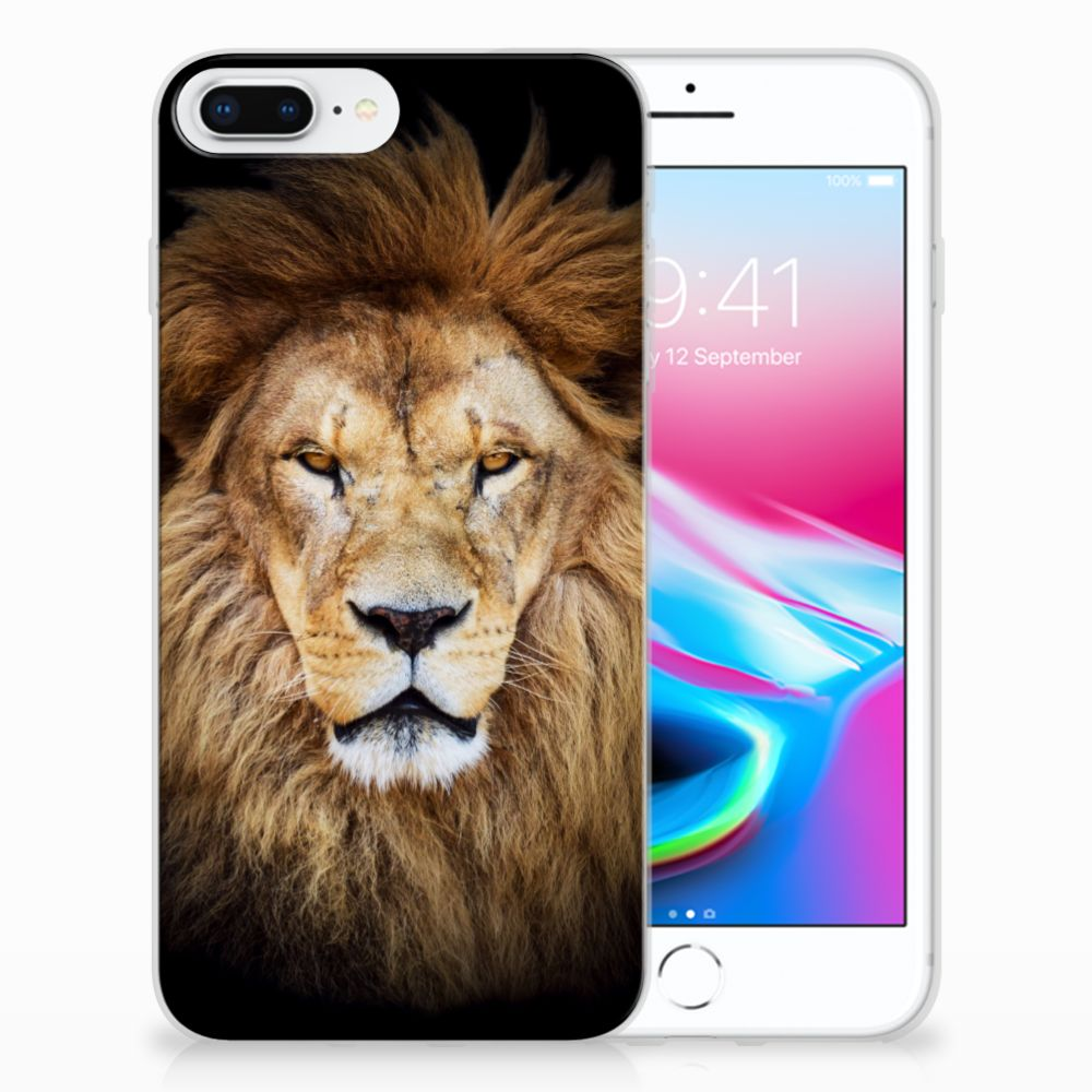 Apple iPhone 7 Plus | 8 Plus TPU Hoesje Design Leeuw