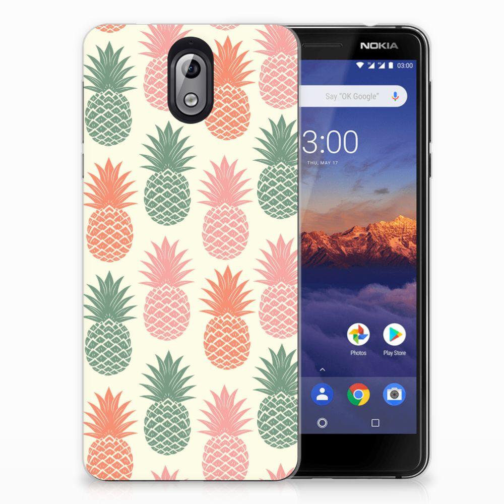 Nokia 3.1 (2018) Siliconen Case Ananas