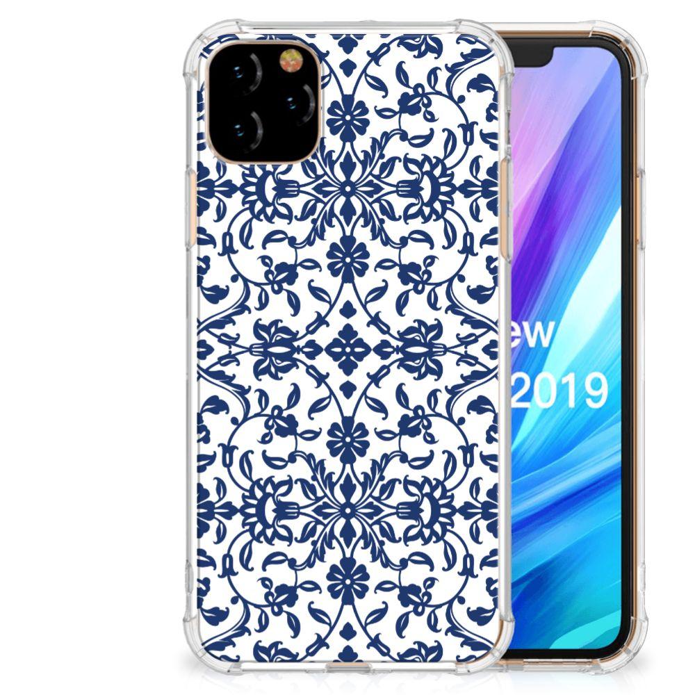Apple iPhone 11 Pro Max Case Flower Blue
