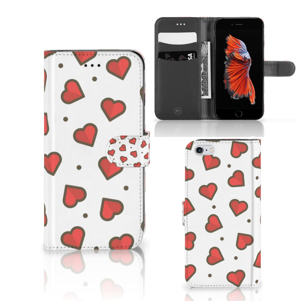 Apple iPhone 6 Plus | 6s Plus Telefoon Hoesje Hearts