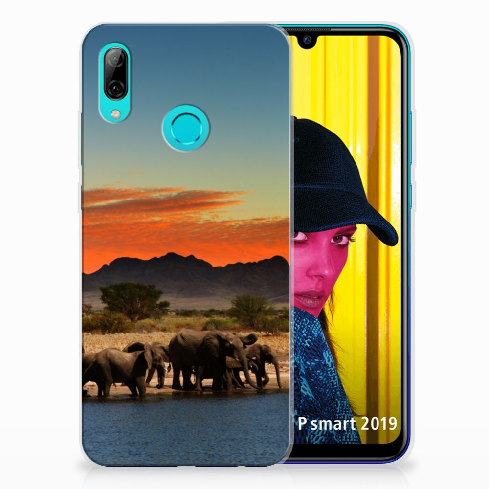 Huawei P Smart 2019 TPU Hoesje Olifanten