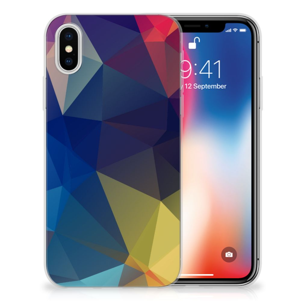 Apple iPhone X | Xs TPU Hoesje Polygon Dark