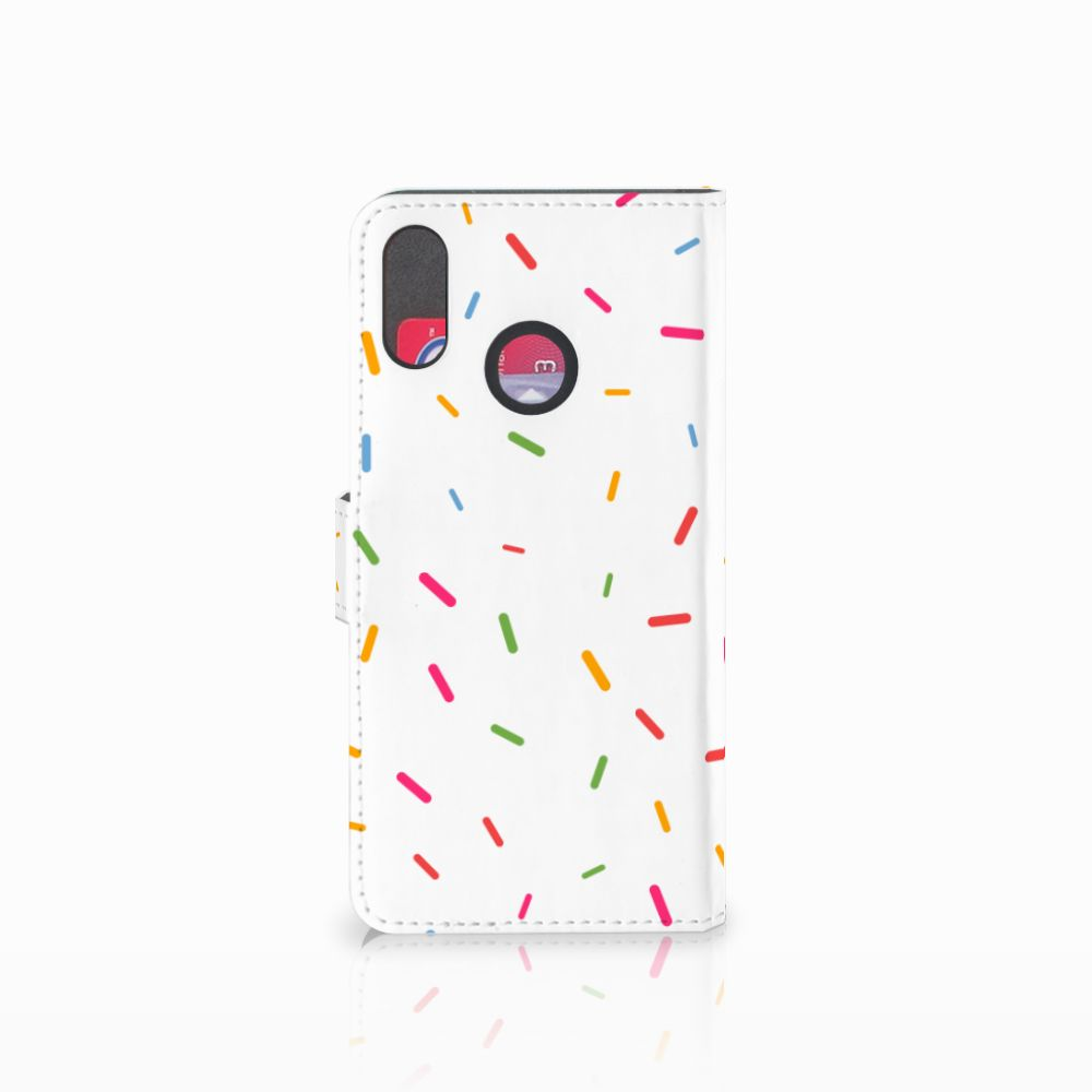 Huawei P Smart Plus Book Cover Donut Roze