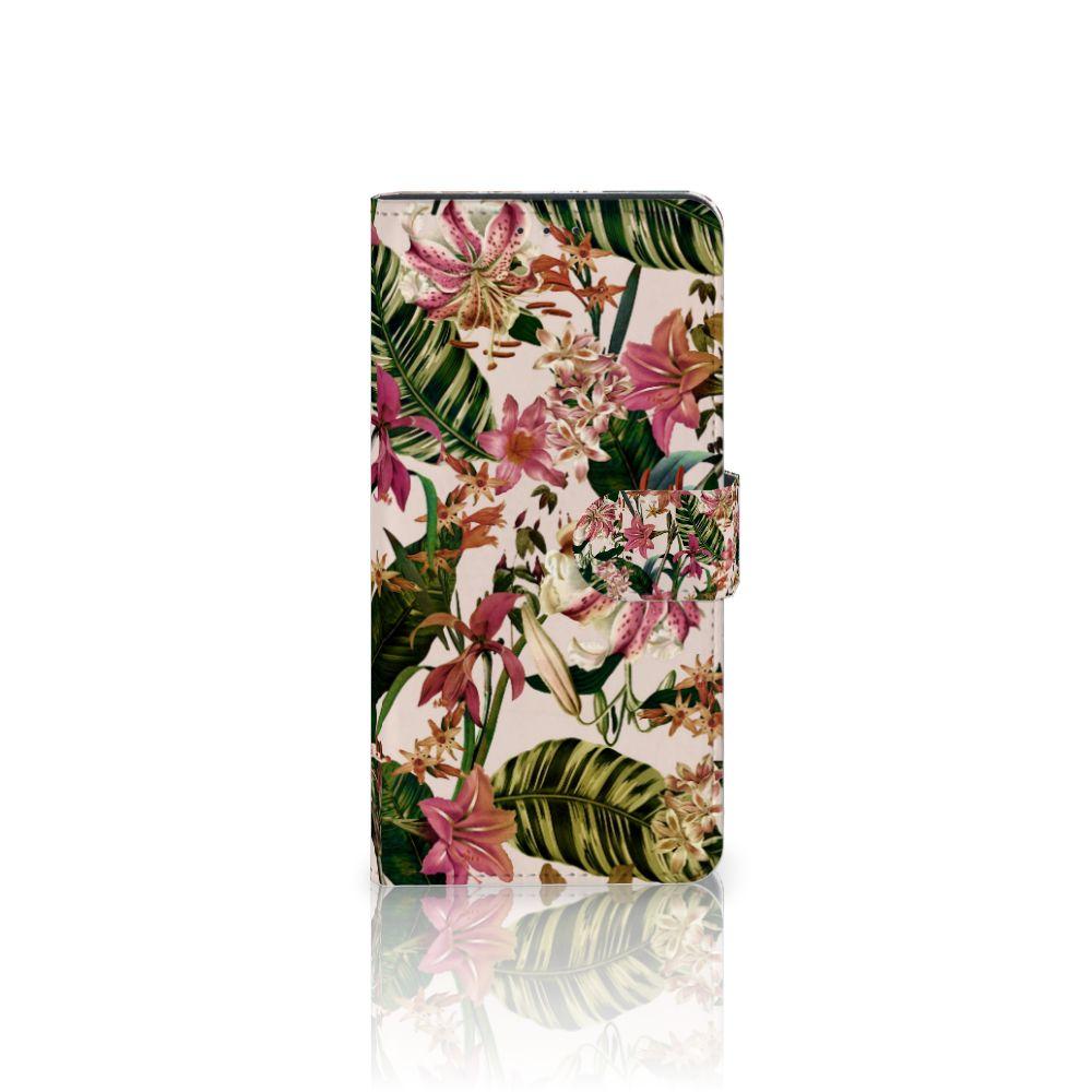 Motorola Moto Z Play Uniek Boekhoesje Flowers