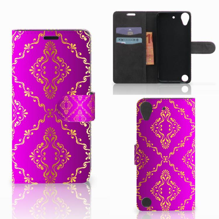 Wallet Case HTC Desire 530 Barok Roze