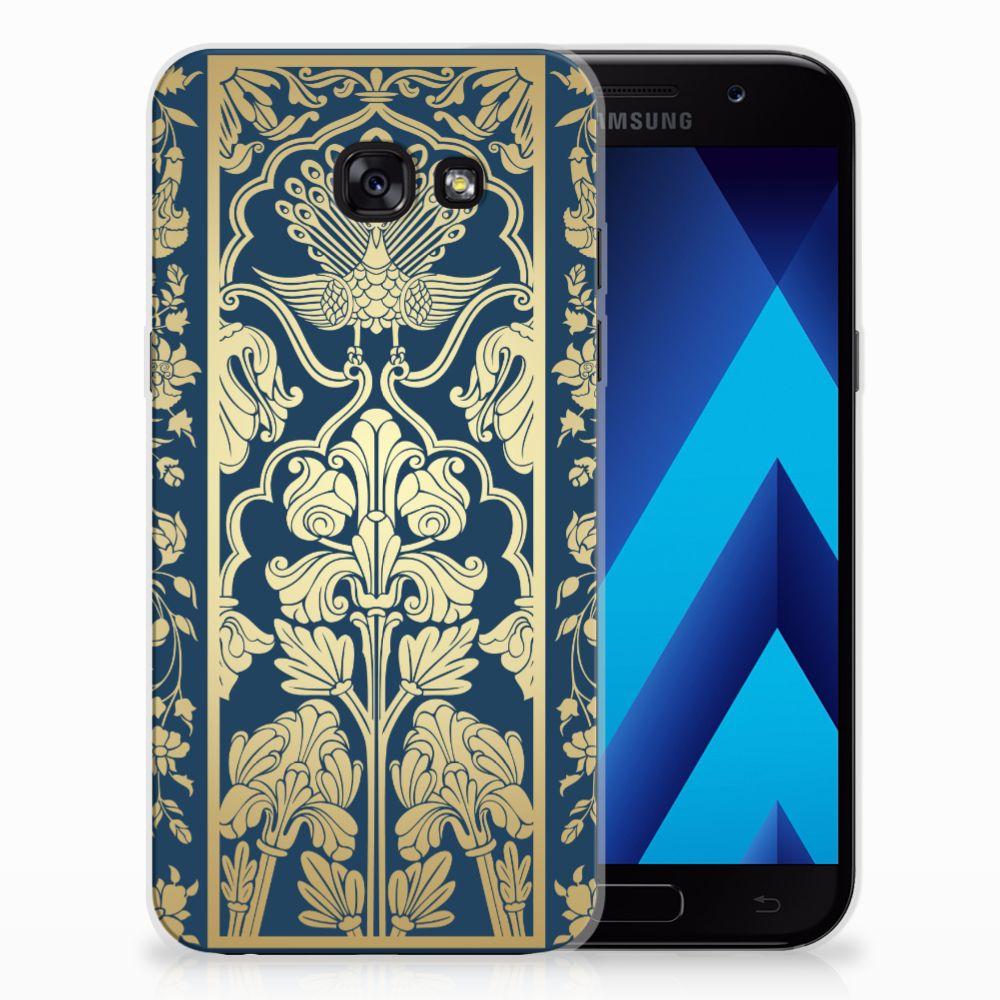 Samsung Galaxy A5 2017 TPU Case Golden Flowers