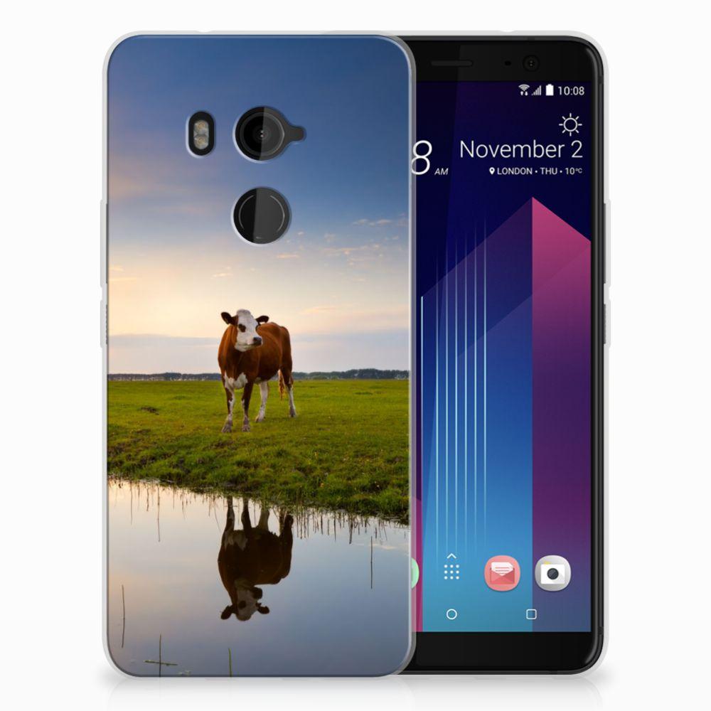 HTC U11 Plus TPU Hoesje Design Koe