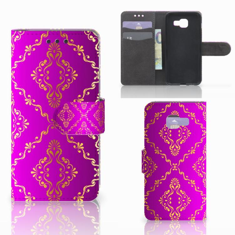 Wallet Case Samsung Galaxy A3 2016 Barok Roze