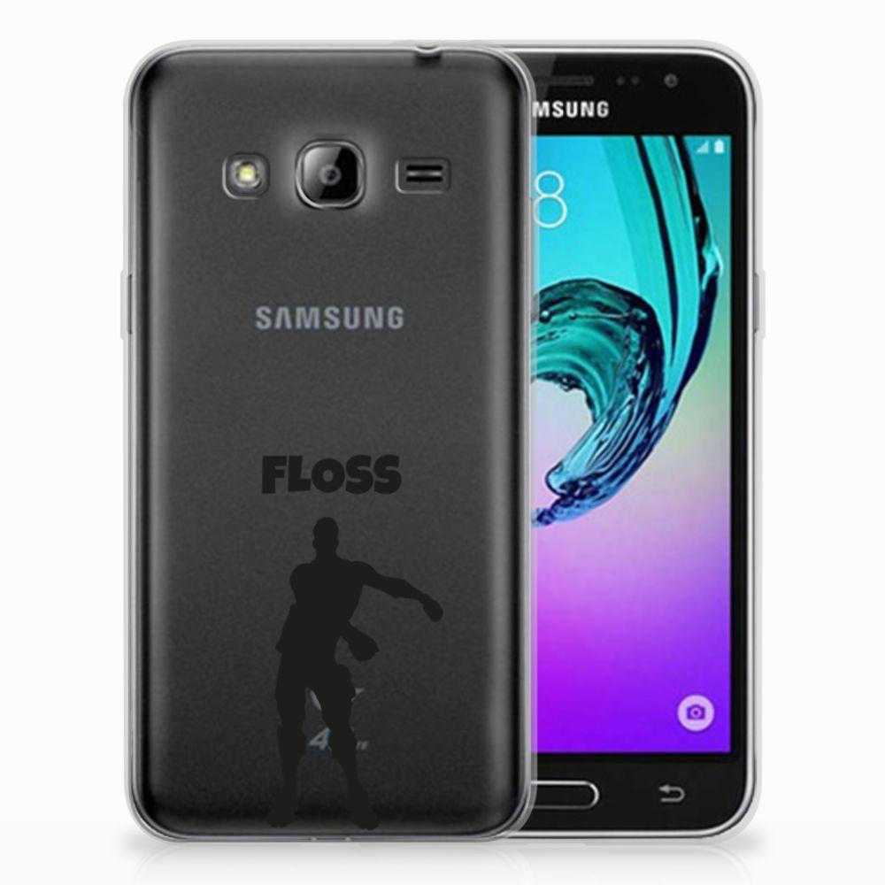 Samsung Galaxy J3 2016 Telefoonhoesje met Naam Floss