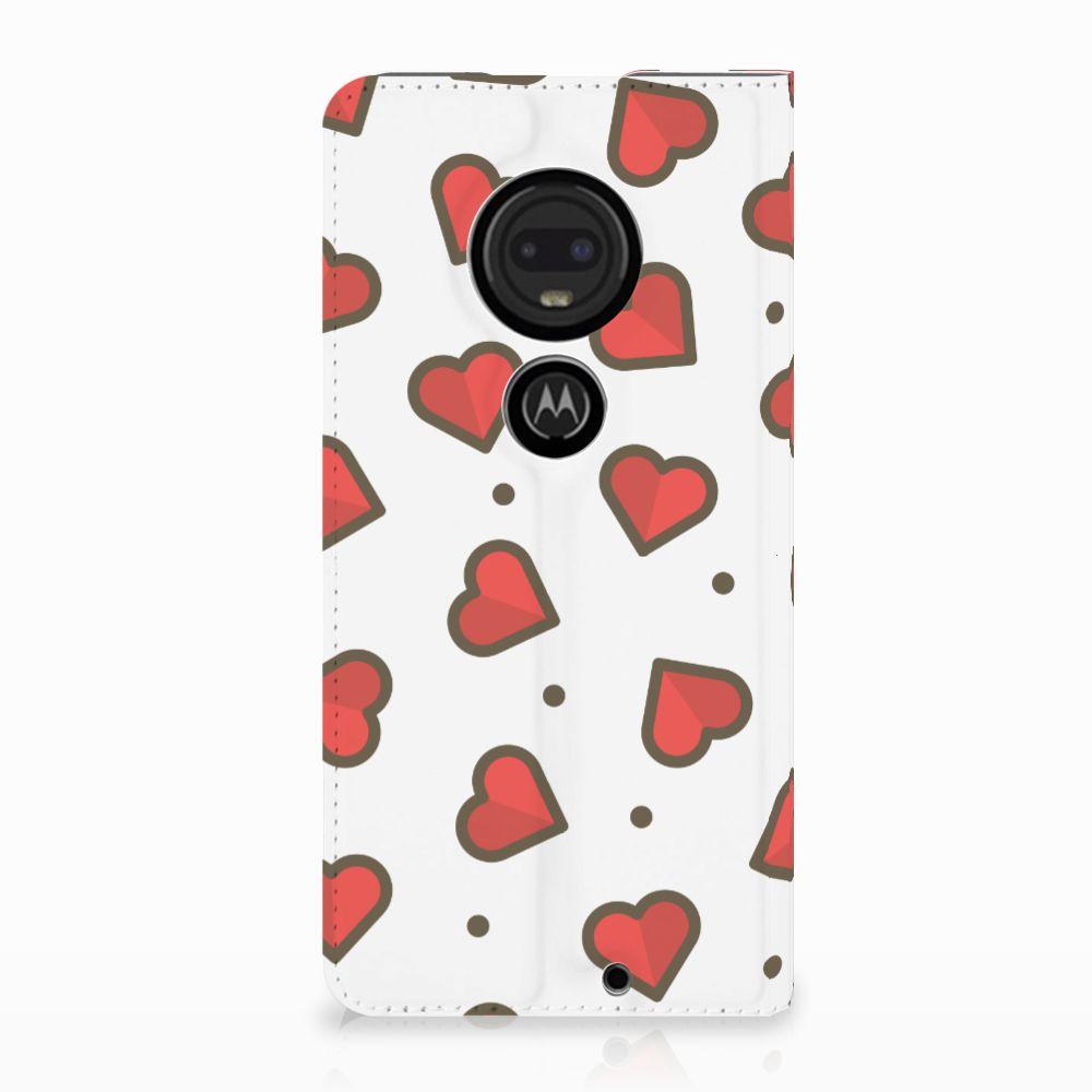 Motorola Moto G7 | G7 Plus Standcase Hoesje Design Hearts