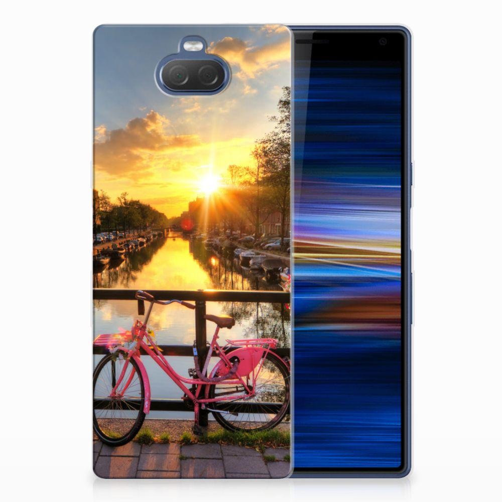 Sony Xperia 10 Plus TPU Hoesje Amsterdamse Grachten