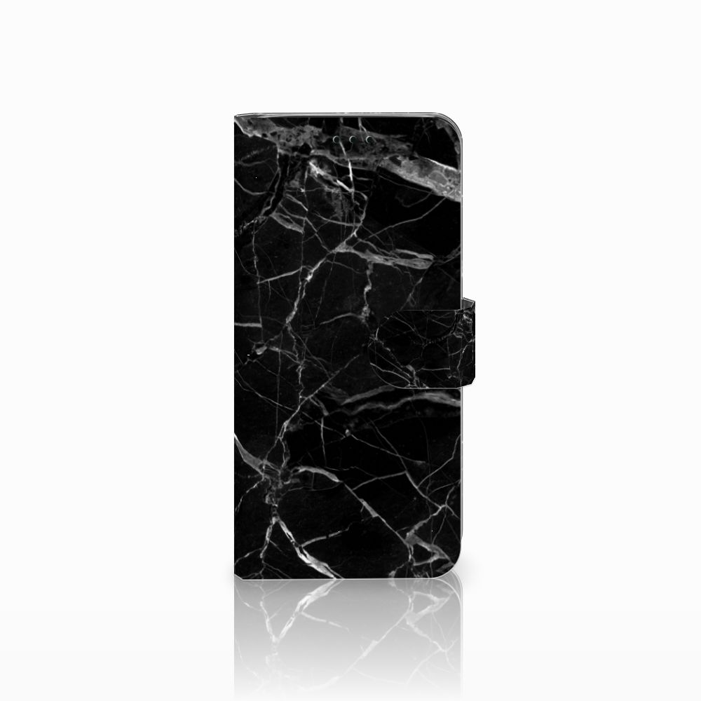 Samsung Galaxy J6 2018 Uniek Boekhoesje Marmer Zwart