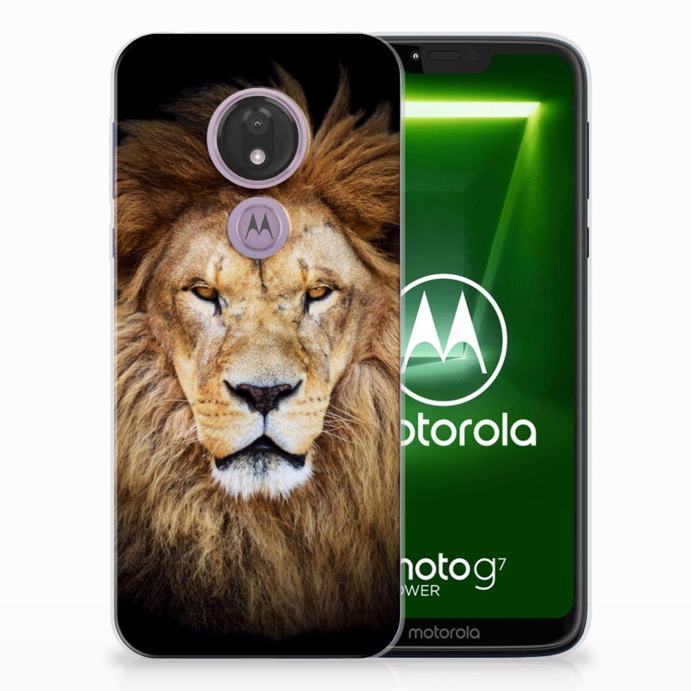 Motorola Moto G7 Power TPU Hoesje Leeuw