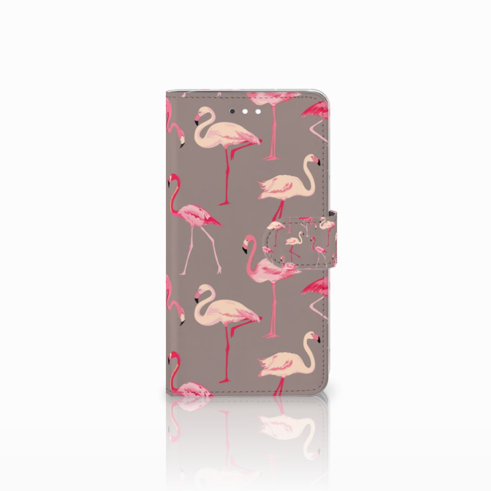 Huawei Ascend G7 Uniek Boekhoesje Flamingo