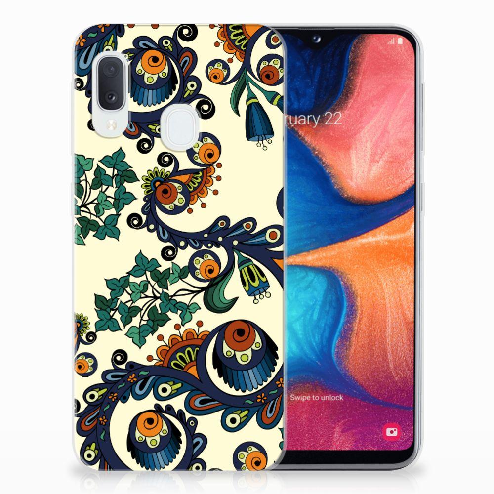 Siliconen Hoesje Samsung Galaxy A20e Barok Flower