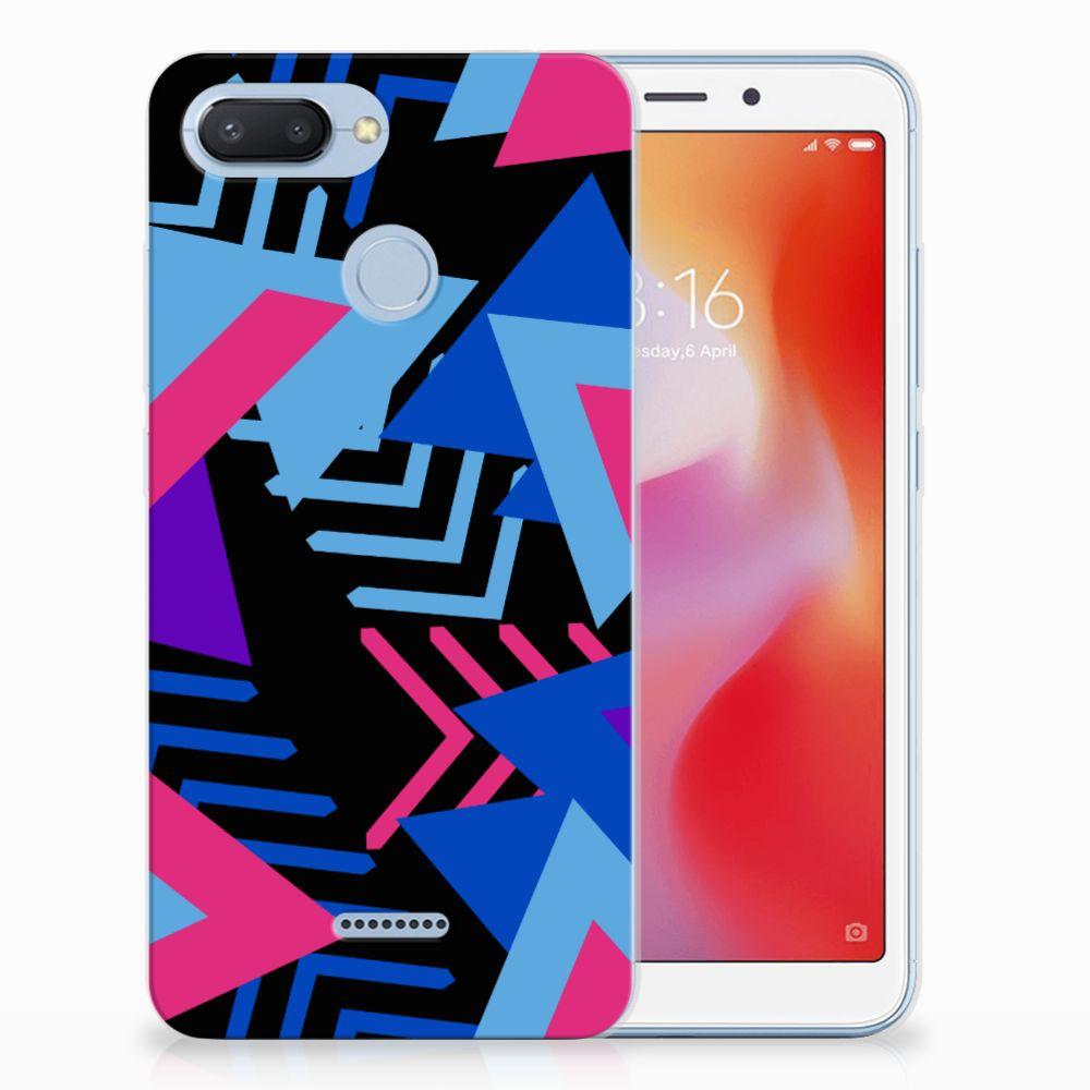 Xiaomi Redmi 6 TPU Hoesje Funky Triangle